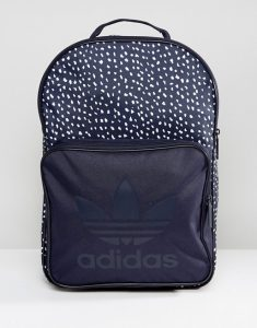 adidas Originals Graphic Backpack In Blue AB3889