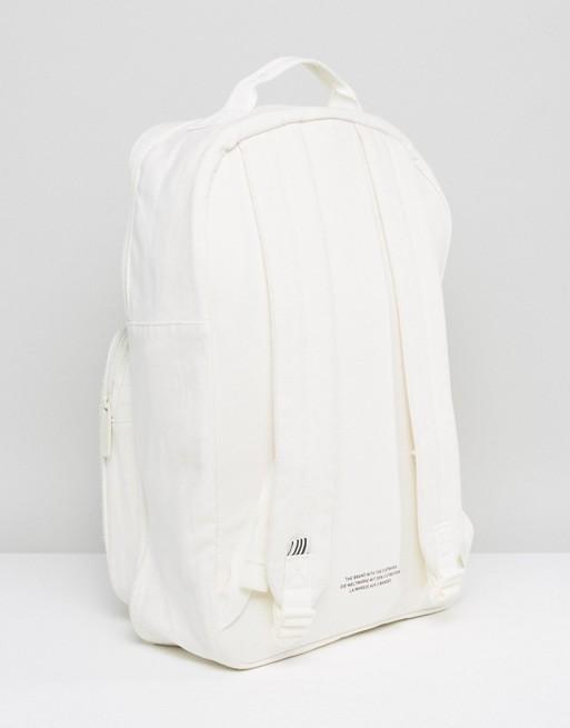 adidas Originals Backpack With Borg Pocket In Cream BQ8120