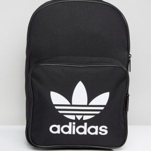 adidas Originals Trefoil Backpack In Black With Front Pocket BK6723