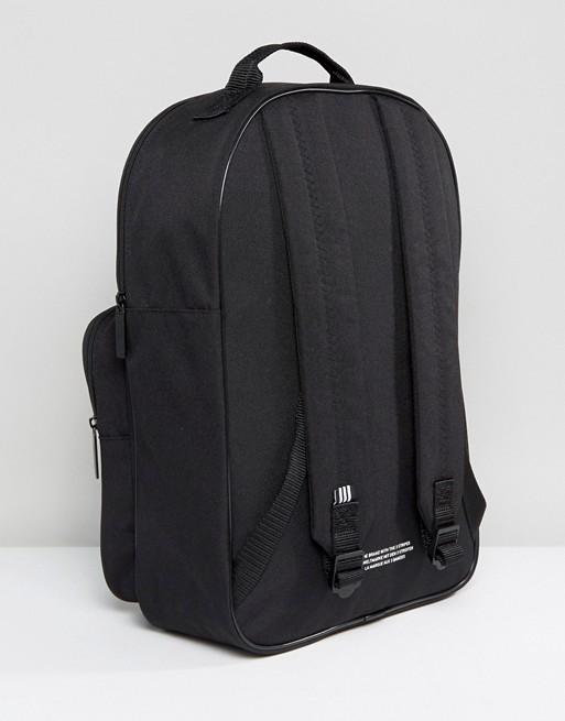 adidas Originals Trefoil Backpack In Black With Front Pocket BK6723 ... 8e736a55e7790