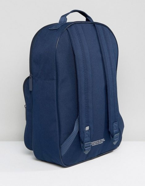 adidas Originals Trefoil Backpack In Collegiate Navy With Front Pocket BK6724
