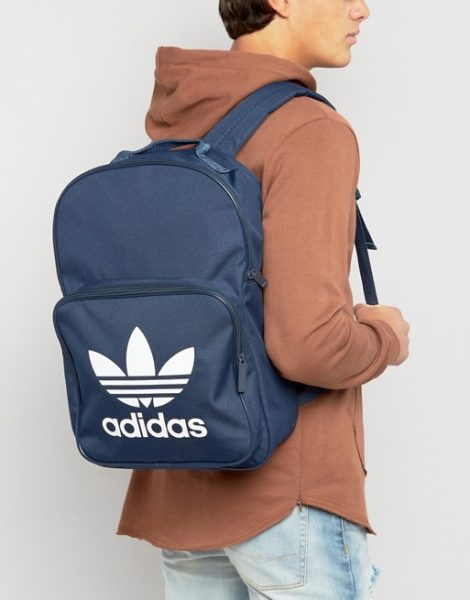 adidas Originals Trefoil Backpack In Collegiate Navy With Front Pocket  BK6724 ab606484be98c